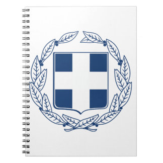 Greece Coat of Arms Spiral Notebook