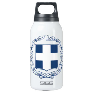 Greece Coat of Arms Thermos Water Bottle
