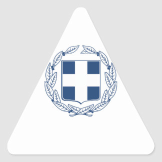 Greece Coat of Arms Triangle Sticker