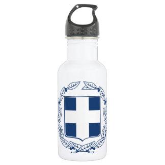 Greece Coat of Arms Water Bottle
