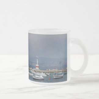 Greece, Corfu, Old Lighthouse, Frosted Glass Mug