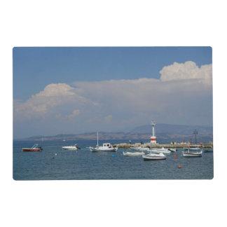 Greece, Corfu, Old Lighthouse, Laminated Placemats