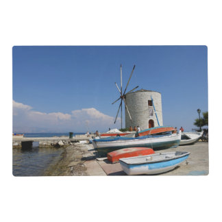 Greece, Corfu, Old Windmill, Laminated Placemat