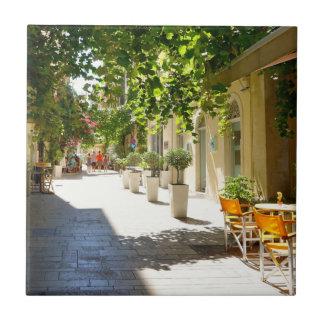 Greece, Corfu Street, Ceramic Tiles