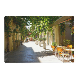 Greece Corfu Street, Laminated Placemat