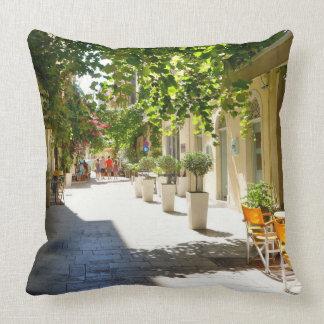 Greece Corfu Street, Pillow