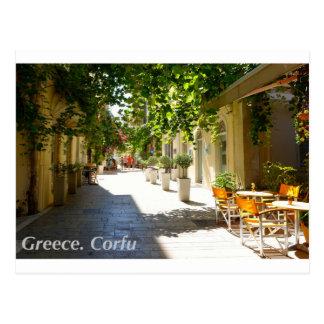 Greece Corfu Street, Postcard