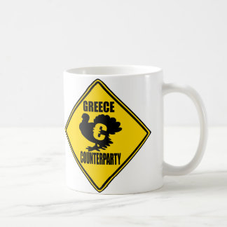 Greece CounterParty Turkey and Falling Pigs! Classic White Coffee Mug