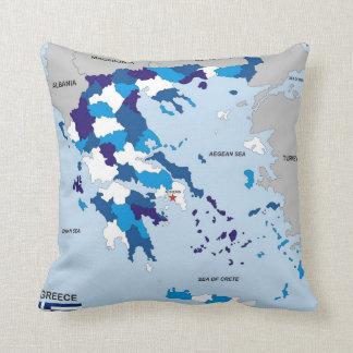 greece country political map flag greek throw pillow