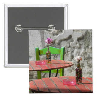 GREECE, CRETE, Hania Province, Hania: Colorful 2 2 Inch Square Button