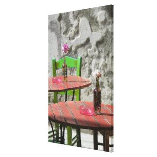 GREECE, CRETE, Hania Province, Hania: Colorful 2 Canvas Print