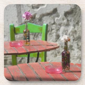 GREECE, CRETE, Hania Province, Hania: Colorful 2 Drink Coasters