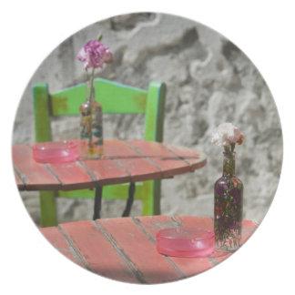 GREECE, CRETE, Hania Province, Hania: Colorful 2 Party Plates