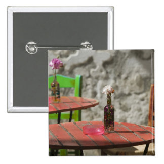 GREECE, CRETE, Hania Province, Hania: Colorful 2 Inch Square Button