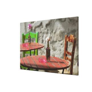 GREECE, CRETE, Hania Province, Hania: Colorful Canvas Print