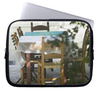 GREECE, CRETE, Hania Province, Vamos: Cafe Table Computer Sleeve