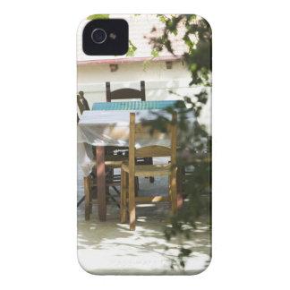 GREECE, CRETE, Hania Province, Vamos: Cafe Table iPhone 4 Cover