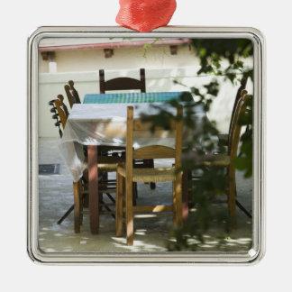 GREECE, CRETE, Hania Province, Vamos: Cafe Table Metal Ornament