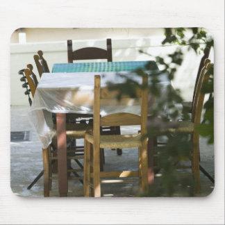 GREECE, CRETE, Hania Province, Vamos: Cafe Table Mouse Pad