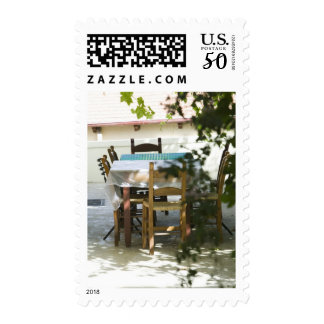 GREECE, CRETE, Hania Province, Vamos: Cafe Table Postage