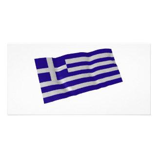 greece custom photo card