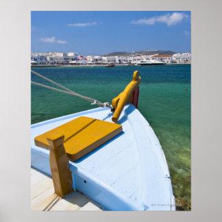 Greece, Cyclades Islands, Mykonos, Fishing boat Poster