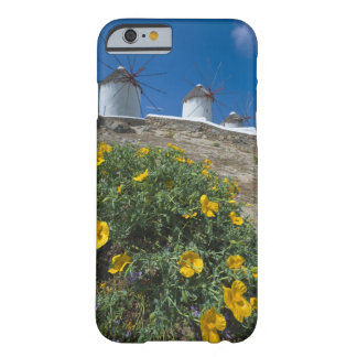 Greece, Cyclades Islands, Mykonos, Flowers near Barely There iPhone 6 Case