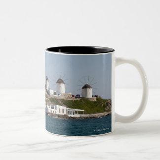 Greece, Cyclades Islands, Mykonos, Mykonos Town, Two-Tone Coffee Mug