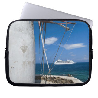 Greece, Cyclades Islands, Mykonos, Old windmill Computer Sleeve