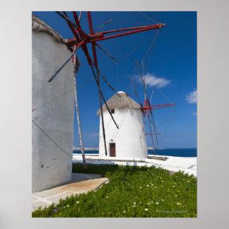 Greece, Cyclades Islands, Mykonos, Old windmills 2 Poster