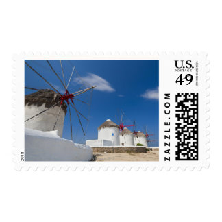 Greece, Cyclades Islands, Mykonos, Old windmills Postage