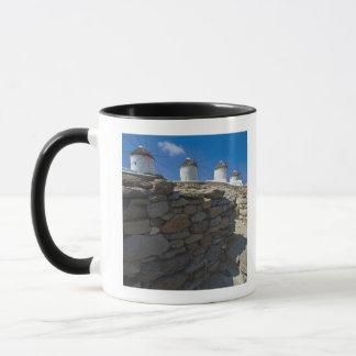 Greece, Cyclades Islands, Mykonos, Stone wall Mug