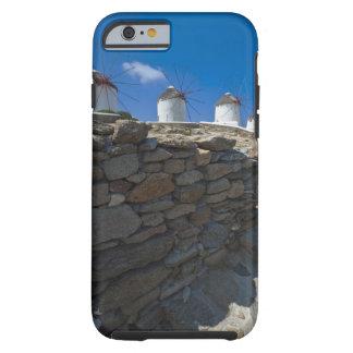 Greece, Cyclades Islands, Mykonos, Stone wall Tough iPhone 6 Case