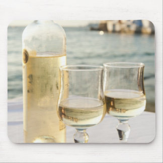 Greece, Cyclades Islands, Mykonos, Wine on table Mouse Pad