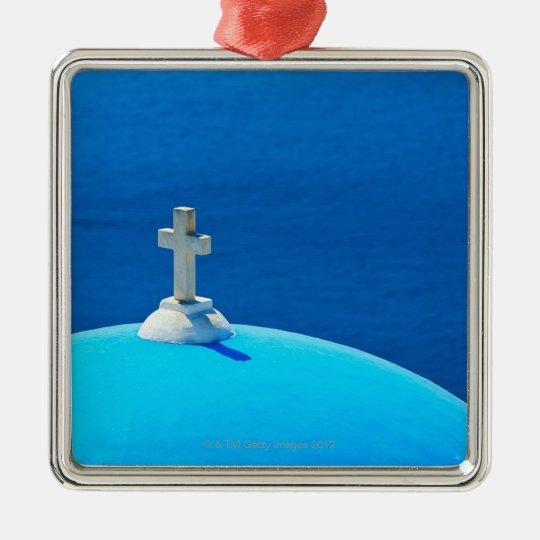 Greece, Cyclades Islands, Santorini, Oia, Church Metal Ornament