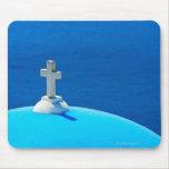 Greece, Cyclades Islands, Santorini, Oia, Church Mouse Pad