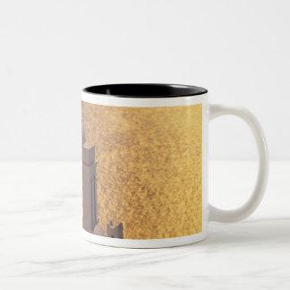 Greece, Cyclades Islands, Santorini, Thira, Two-Tone Coffee Mug