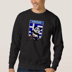 Men's Basic Sweatshirt with Greek Cycling Panda design
