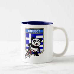 Two-Tone Mug with Greek Cycling Panda design