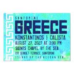 "GREECE Destination Wedding Invitation 5"" X 7"" Invitation Card"