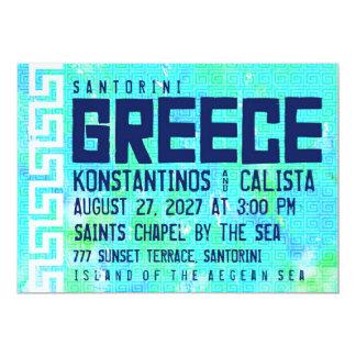 GREECE Destination Wedding Invitation