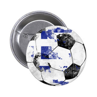 Greece Distressed Soccer 2 Inch Round Button