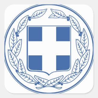 greece emblem square sticker
