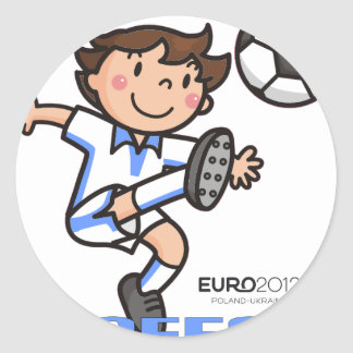 Greece - Euro 2012 Classic Round Sticker