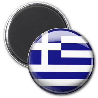 Greece Flag 2 Inch Round Magnet