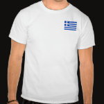 Greece Flag Map Basic T-Shirt