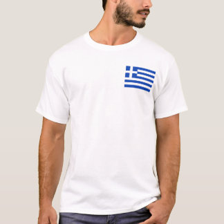 Greece Flag and Map T-Shirt