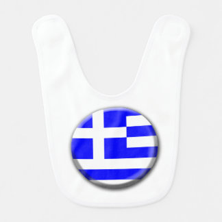 Greece Flag Baby Bib