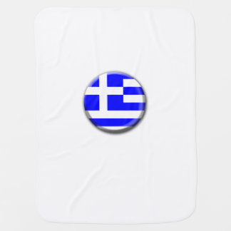 Greece Flag Baby Blanket