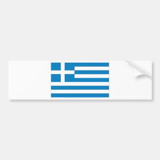 Greece Flag Bumper Sticker